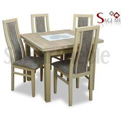 Zestaw ATURRI II 4 krzesła i stół 90x90/140