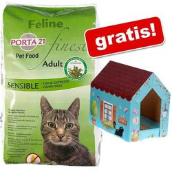 10 kg Porta 21 + Domek dla kota Butterfly z matą do drapania gratis! - Feline Finest Sensible, bez zbóż