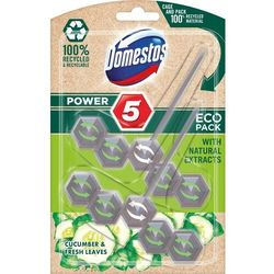 Domestos zawieszka do WC Power 5 Cucumber & Fresh Leaves ECO, 2 x 55 g