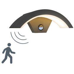 Zewnętrzna lampa ścienna Sweden LED z czujnikiem ruchu ciemnoszara