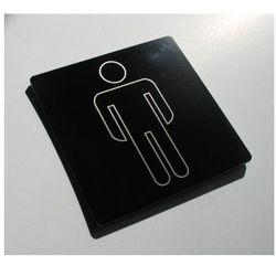 Piktogram, Symbol na Drzwi - Toaleta Męska 9x9 kr