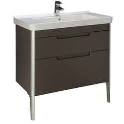 Zestaw łazienkowy Unik 85 cm z 2 szufladami Roca Dama-N A851048806 Biały połysk