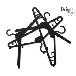 Wieszak na ubrania Bałagan w szafie, czarny połysk by Briso-desing