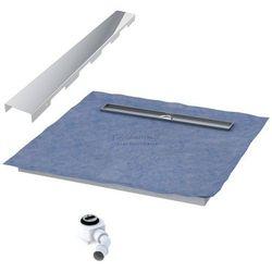 Schedpol podposadzkowa płyta prysznicowa 90x140 cm steel długi bok 10.012OLDBSL