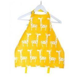 Fartuszek i czapka kucharska - żółte żyrafy