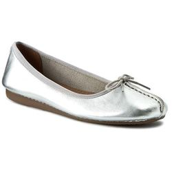 Baleriny CLARKS - Freckle Ice 261140454 Silver Leather
