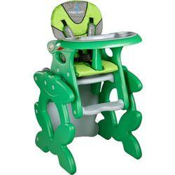 Krzesło do karmienia CARETERO ze stoliczkiem Primus zielony + DARMOWA DOSTAWA!