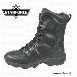 Buty taktyczne wojskowe Starforce Thunderstorm czarne skóra