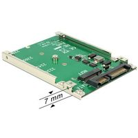 "ADAPTER SATA 22PIN(M)->M.2 NGFF KEY B 67PIN PŁYTKA 2.5"" DELOCK"