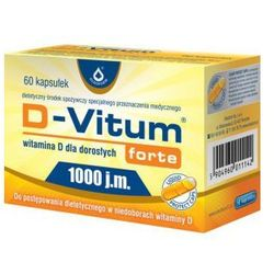 D-Vitum Forte® 1000 j.m., witamina D 60 kapsułek