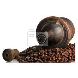 Fototapeta Vintage młynek do kawy z ziaren kawy wokół niego