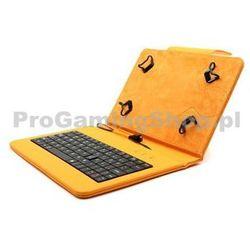 Akcja - Etui FlexGrip z klawiaturą na GoClever Tab M703G, Pomarańczowy