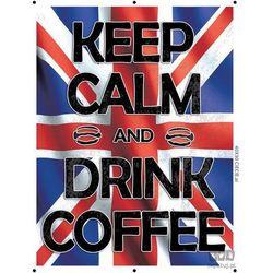 Obraz KEEP CALM AND DRINK COFFEE - FLAGA BRYTYJSKA PT161T2