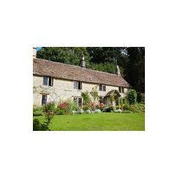 Foto naklejka samoprzylepna 100 x 100 cm - Angielski domek z ogrodem kwiatowym