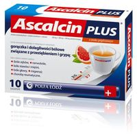 Ascalcin Plus o smaku grejpfrut. prosz. musuj. 0,5g+0,3g+0,2g 20 szt.