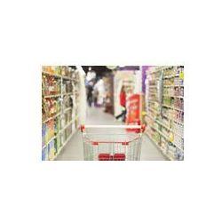 Foto naklejka samoprzylepna 100 x 100 cm - Wózek sklepowy