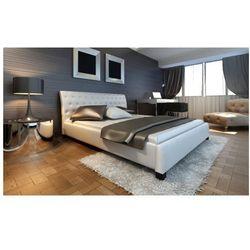 Łóżko ze sztucznej skóry, białe 140 cm Zapisz się do naszego Newslettera i odbierz voucher 20 PLN na zakupy w VidaXL!