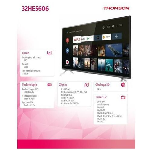 TV LED Thomson 32HE5606