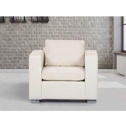 Skórzany fotel beżowy - sofa - HELSINKI