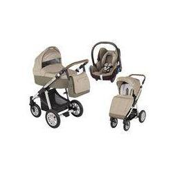 Wózek wielofunkcyjny 3w1 Lupo Dotty Baby Design + Cabrio Fix GRATIS (beżowy)