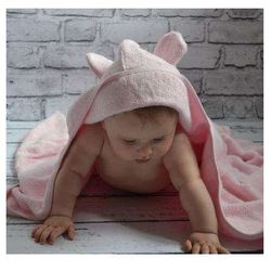 Bambusowy Ręcznik Dziecięcy z Kapturkiem, Candyland / Różowy Pastelowy, 65x130 cm, CAMPHORA STUDIO