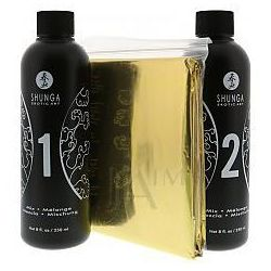 Shunga Oriental Massage Gel Sparkling Strawberry Wine Zestaw do masażu o smaku truskawki i szampana 500ml