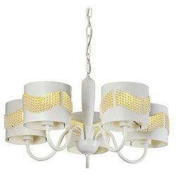 Żyrandol LAMPA wisząca ANTONIO 35-23001 Candellux metalowa OPRAWA zwis koraliki biały