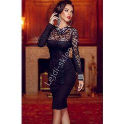 Koronkowa sukienka w stylu Kate Middleton, czarna | czarne koronkowe sukienki