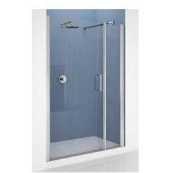 Drzwi Novellini Giada G+F 150-156 cm do wnęki z elementem stałym, lewe,profil chrom, szkło przeźroczyste GIADNGF150S-1K