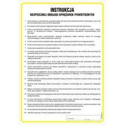 Instrukcja w sprawie bezpieczeństwa pracy przy sprężarkach powietrznych