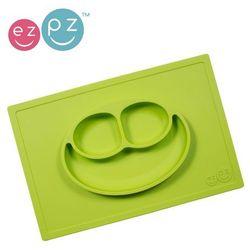 EZPZ, Happy Mat, silikonowy talerzyk z podkładka 2w1, zielony Darmowa dostawa do sklepów SMYK