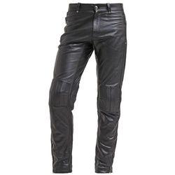 Versace Spodnie skórzane nero