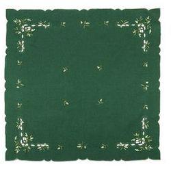 Forbyt Obrus świąteczny jemioła, zielony, 35 x 35 cm