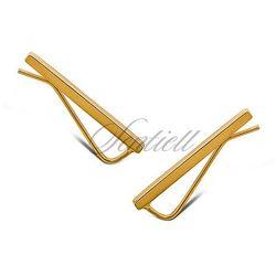 Srebrne kolczyki nausznice pozłacane - Żółte złoto