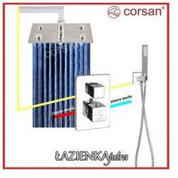 CORSAN Zestaw podtynkowy z termostatem, chrom CM-01T_30LEDR