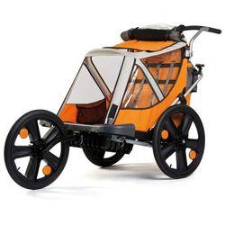 Przyczepka rowerowa BELLELLI + Jogging Pomarańczowa