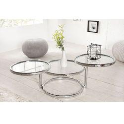 Stolik Modern Glass (3-poziomowy) - srebrny