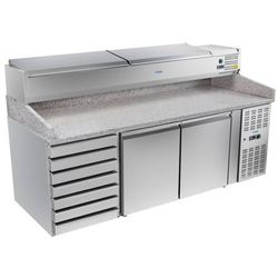 Stół chłodniczy do pizzy z nadstawą chłodniczą | 800x2020x1610mm