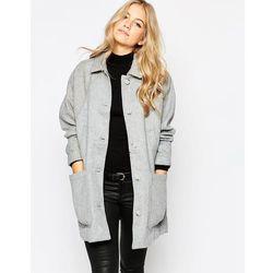 Parka London Oversized Wool Coat - Grey