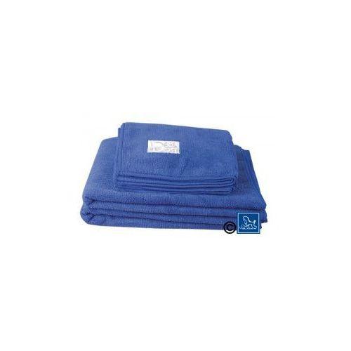 Ręcznik do kąpieli psów 40cm x 60cm mikrofibra niebieski