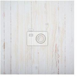 Fototapeta Rocznika biały drewniany stół tło, widok z góry