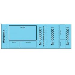 Numerki kontrolne leku recepturowego - niebieskie - perforowane x 100 szt.