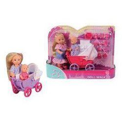 Lalka SIMBA Evi z wózkiem i laleczką