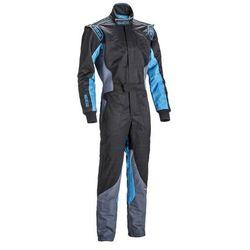 Kombinezon dziecięcy Sparco KS-5 czarno - niebieski (homologacja CIK FIA)