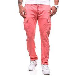 Różowe spodnie bojówki męskie Denley 8380 - RÓŻOWY Spodnie 59.99 (-14%)