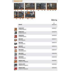 WÓZEK NARZĘDZIOWY 2400/C24S8 Z ZESTAWEM NARZĘDZI, 142 ELEMENTY, MODEL 2400S8-R/VI3T, CZERWONY