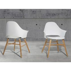 Krzeslo biale - Krzeslo do jadalni, do salonu - krzeslo kubelkowe - BOSTON