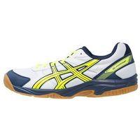 ASICS GELVISIONCOURT Obuwie do siatkówki white/flash yellow/navy
