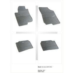 Dywaniki gumowe czarne z kompletem stoperów - Kia Ceed (I) 2007-2011