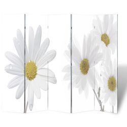 vidaXL Parawan/dzielnik pokojowy w kwiaty (200 x 180 cm) Darmowa wysyłka i zwroty